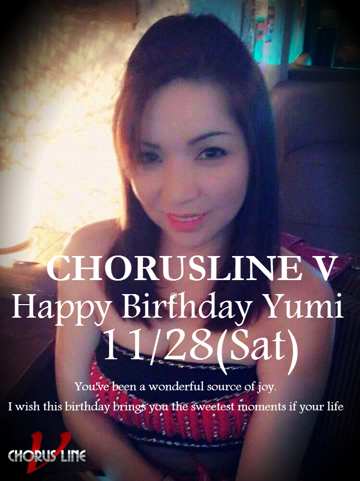 11/28(Sat) YUMI's Bithday Party